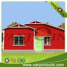 Panel sándwich de dos dormitorios casa prefabricada de bajo costo