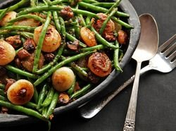 Sautéed Green Beans With Mushrooms and Caramelized Cipollini Onions | Serious Eats : Recipes