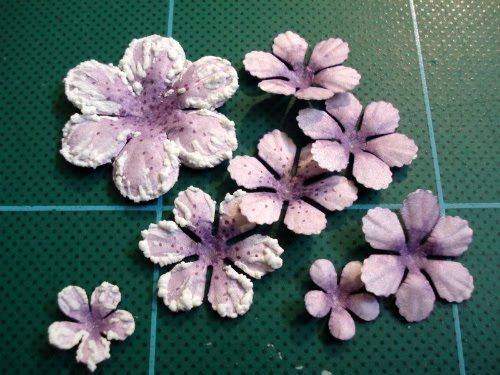 107 best paper flowers using punches and dies images on pinterest uses punches distress ink scallop scissors and puffy velvet markers mightylinksfo