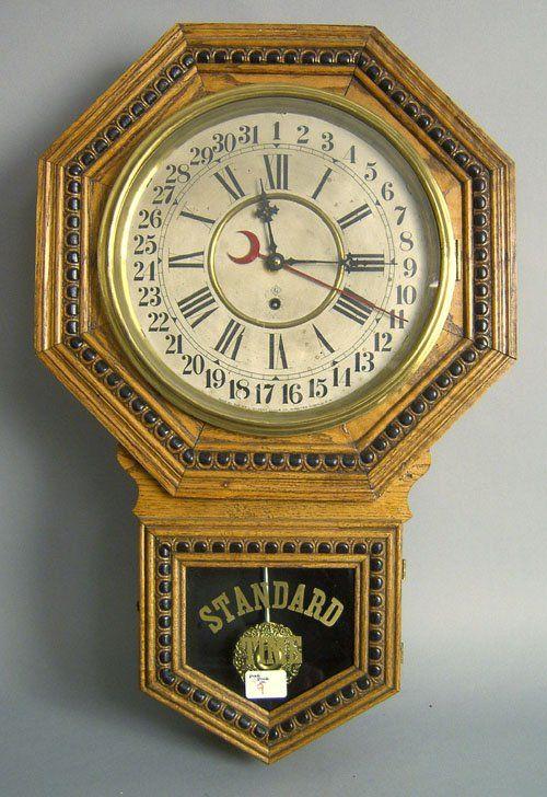Gilbert Admiral oak regulator wall clock,