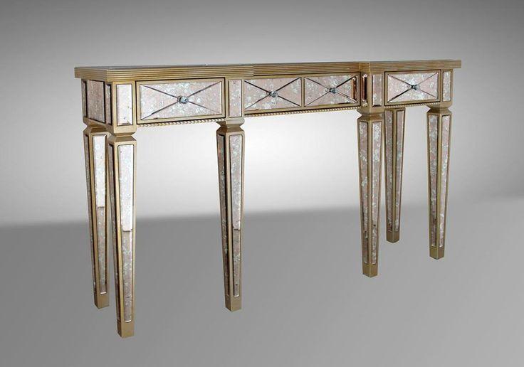 Modrest Harmon - Transitional Mirror Console Table