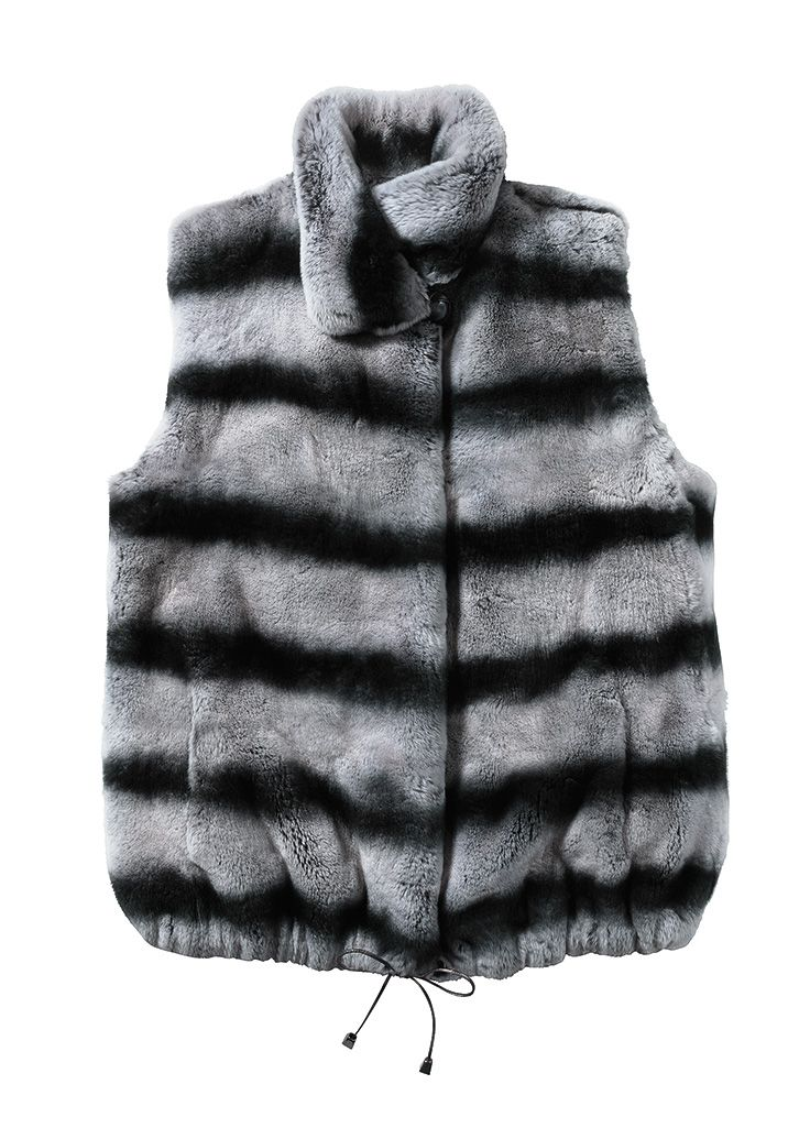 Beautifully colored plush Rex fur vest in a contemporary cut, from a collection of fine furs, $400 and up.  L.A. Moves | 703.415.0500
