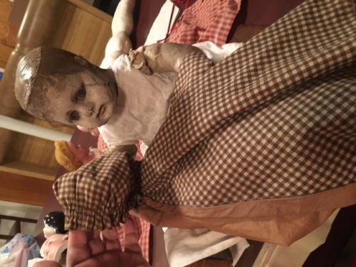 LARGE-antique-doll-cloth-alabama-ella-smith-GHOST-WHITE-FACE-rare-1st-version