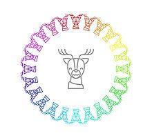 Rainbow Reindeer Ring by silverjade