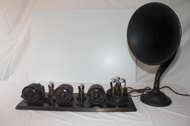 """Atwater Kent 10C & Atwater Kent Speaker model """"M"""" (1924) """"Antique radio"""", """"Tube radio"""""""