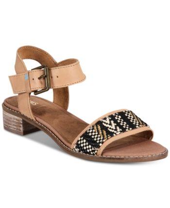 toms women's camilia flat sandals  white  women shoes