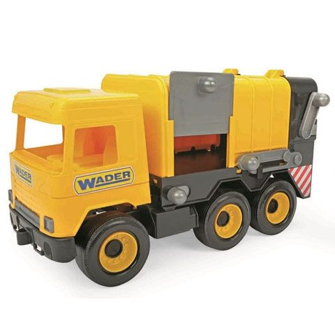 Middle Truck: Kukás autó 43cm sárga - Wader
