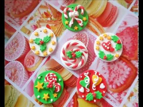 Tutorial decorazioni natalizie (polymer clay tutorial) - YouTube