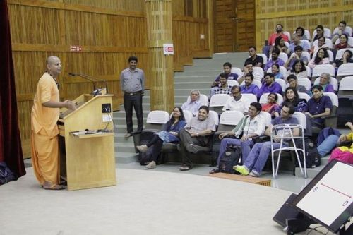 Krishna conscious presentation in Bangalore (Album with photos) On 26th July 2017, Gaur Gopal das spoke at IIMB, Indian Institute of Management Bangalore. Indian Institute of Management Bangalore i…