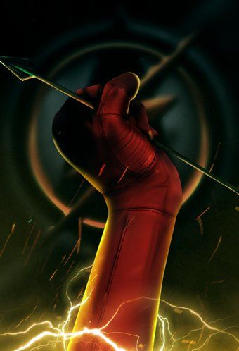 Changed it to a crossover The Flash X Arrow poster - fan art by Bosslogic