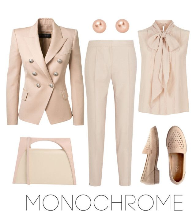 monochrome by explorer-14541556185 on Polyvore featuring MaxMara, Balmain, STELLA McCARTNEY, J.W. Anderson and ALLROUNDER