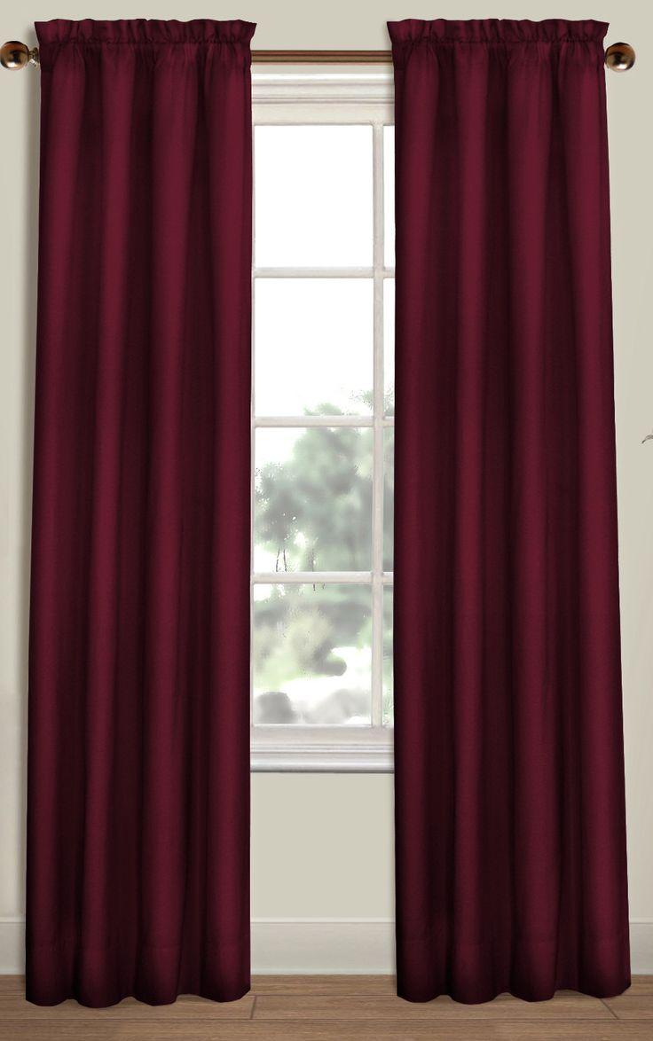 Back tab curtains on traverse rod - Westwood Rod Pocket Curtain Panels