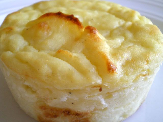 Mashed Potato Puffs - Just potatoes, cottage cheese, eggs & butter.