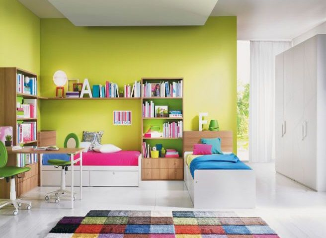 decoracion de habitacion infantil dos camas