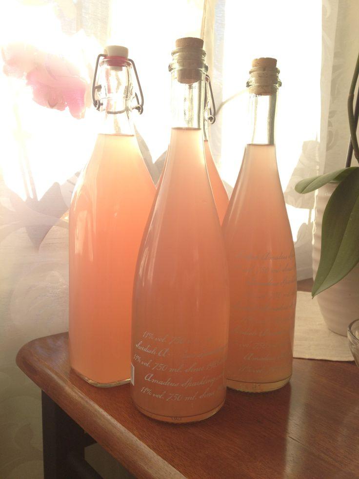 Kan man göra champagne med rabarber? Nja, det kan man tekniskt sett inte eftersom man måste använda vindruvor och befinna sig i det nordfranska distriktet Champagne. Vill man däremot göra en ljusro...