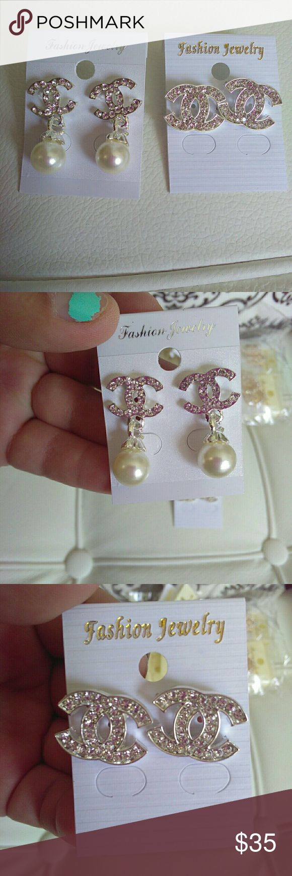 Chanel earrings New Price is for both chanel Other