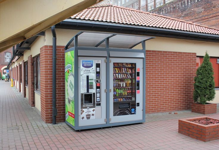 Housing for vending machines made by Key Company Zewnętrzne zabudowy vendingowe
