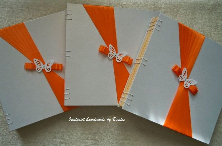 White and orange photo albums