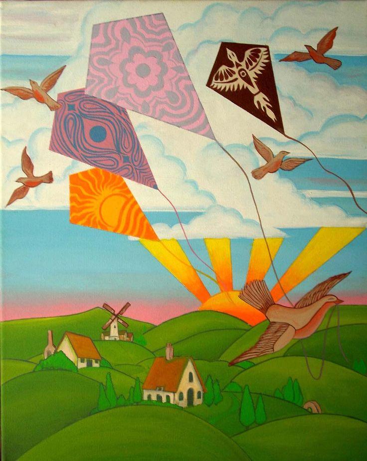 Trippy morning, Acrylic on canvas, 40 x 50 cms., 2010