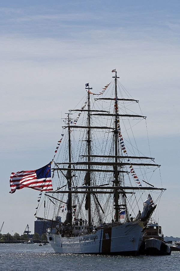 The U.S. Coast Guard cutter USCGC Eagle (WIX 327)