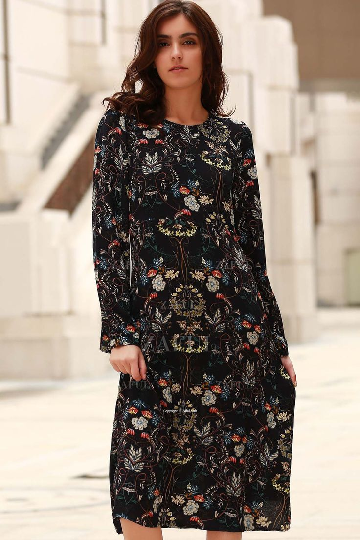 25  best ideas about Long sleeve chiffon dress on Pinterest ...