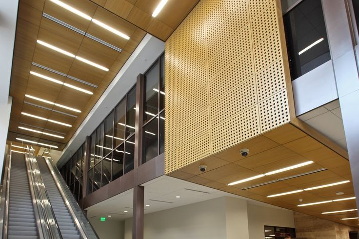 Wood Ceilings - Woodwright Natura Plank and Tile from Hunter Douglas Contract
