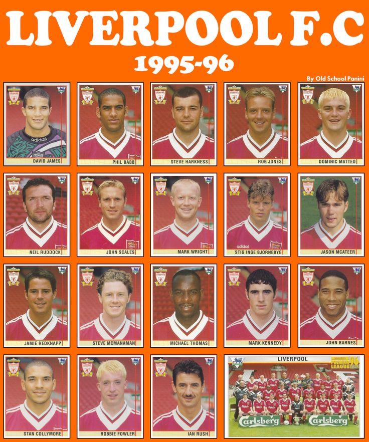 Old School Panini: UK Football Team - Liverpool F.C 1995-96 #LFC