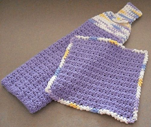 Ravelry: Hanging Towel and Matching Dishcloth pattern by Tiffany Roan
