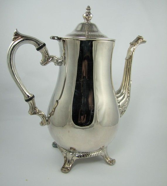 Silver vintage / antique coffee pot Repinned by www.silver-and-grey.com