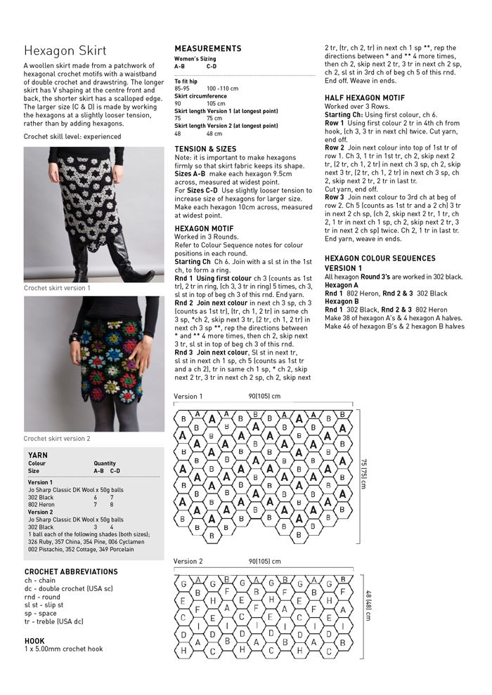 Hexagon Skirt pattern.  Free from Knit Jo Sharp.  Love this!