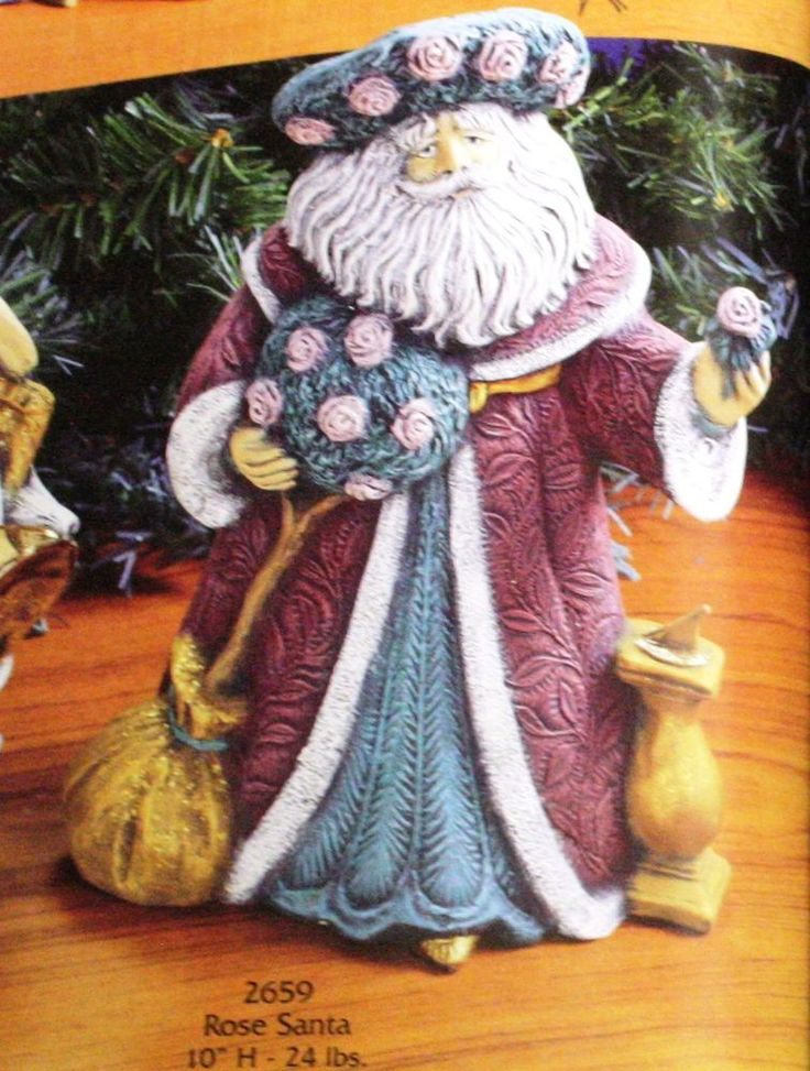 Paintable Ceramic Santas