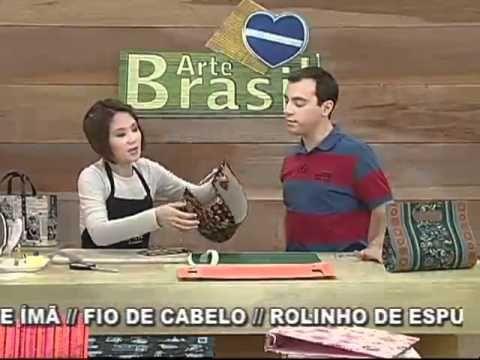 ARTE BRASIL - CLAUDIA WADA - BOLSA GABRIELA EM CARTONAGEM (10/08/2011)