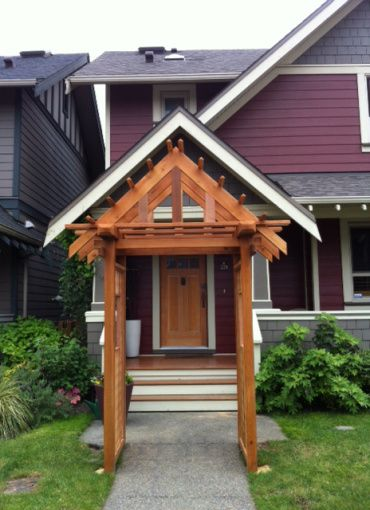 43 best images about porch pergola on pinterest for Front porch roof kits