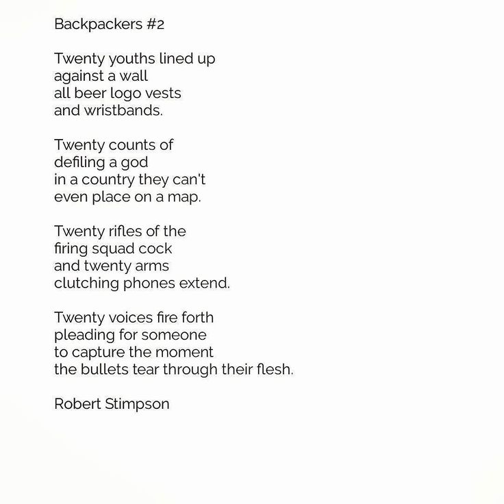 New poem 'Backpackers #2'. Following on from yesterday's 'Backpackpackers #1' is another observation from my time on the backpacker circuit.  As I turned 31 years of age during my travels I'm hardly in the most common demographic of travellers. The majority are young vibrant and well German actually.  A very common occurence in places of fame and beauty is people conducting miniature photoshoots for instagram and facebook profile pictures. It's all very industrial.  Before I turn into one of…