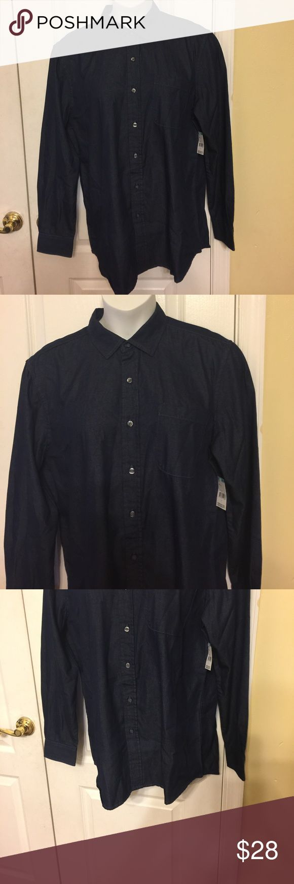 Simply Styled men's chambray shirt Large Keep your casual style on point with this chambray cotton/polyester shirt from Simply Styled. Featuring a pocket, collar, button down, long sleeves and button cuffs Simply Styled Shirts Casual Button Down Shirts