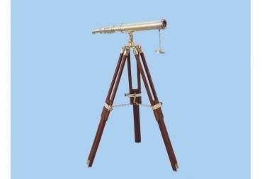 """Floor Standing Brass Harbor Master Telescope 30"""""""