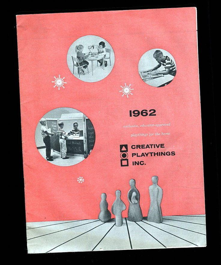 Vintage 1962 Creative Playthings Catalog Antonio Vitali Playforms Wood Toys in  | eBay!