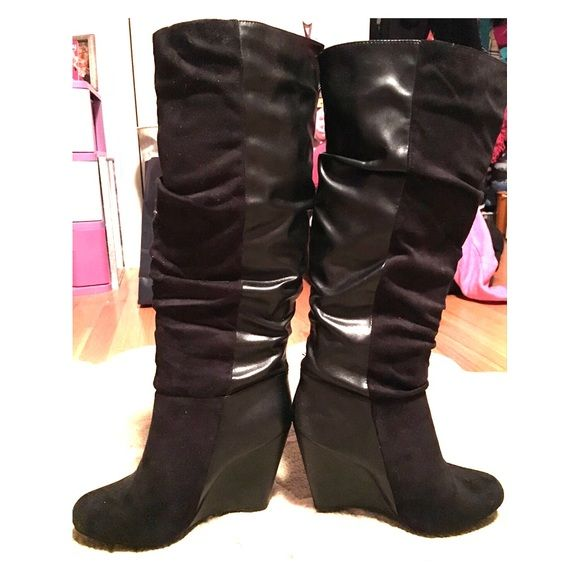 russe black suede boots russe black