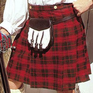 Scottish Kilt for sale is the ultimate necessity for any Scottish highlander outfit. These handsome kilts can be worn by both men and women alike. They feature pleats of red and green. These kilts are not only popular for Scottish and Celtic outfits. Many people enjoy the comfort and beauty of these pieces. Pair this with a basket hilt sword, claymore or broadsword for a unique Scottish costume. Or add a Celtic Sword for an Irish look.