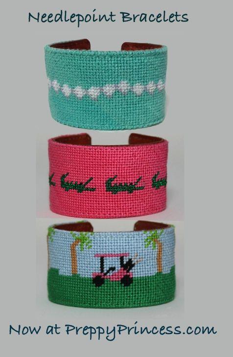 Finally, needlepoint bracelets!