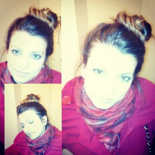 Messy bun hairstyle created by me myself and I