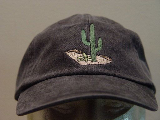 This Listing is for 1 - New Embroidered CACTUS DESERT WILDLIFE HAT (HAT SHOWN IS BLACK)  Adams Optimum 6 Panel Baseball Hat  Low Profile – 100%