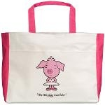 Ballerina Pig -- Beach Tote : $30.00  #dancers, #gift, #yolo