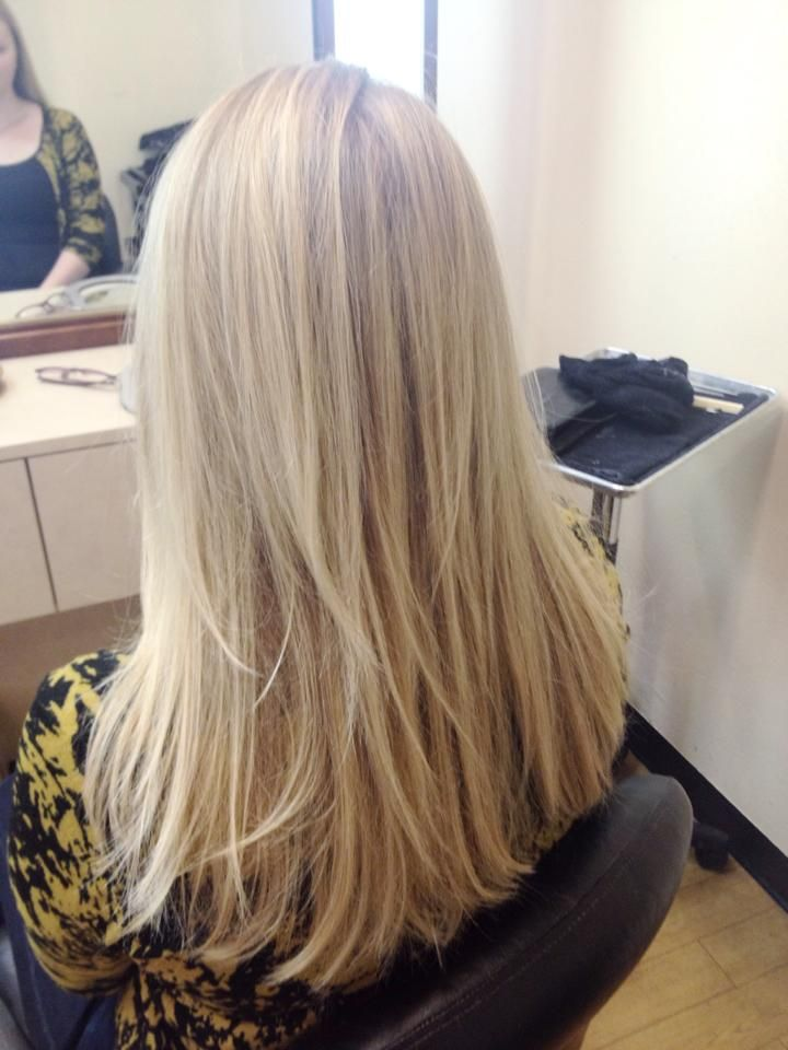 Buttery champagne blonde balayage hair color and cut done on me by Silvia Reis!   Find her at http://www.youtube.com/user/Ellebangs. Text her to book your appointment at (408) 234-2565.
