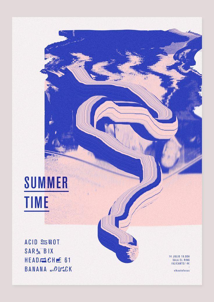 Poster design // vikautofocus: Acid Snot + Sarabix + Headache 61 + Banana Duck