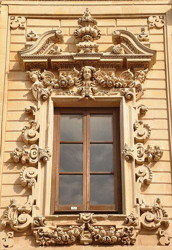 Finestra A Lecce Window Architecture Windows Baroque