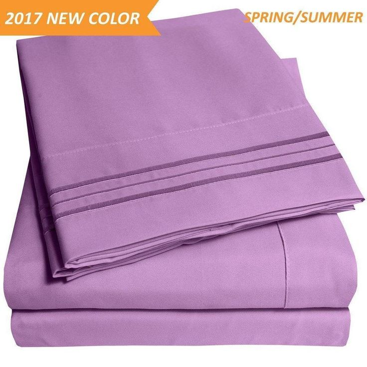 1500 Supreme Collection Extra Soft Twin Sheets Set, Plum Luxury Bed Set With... #SweetHomeCollection