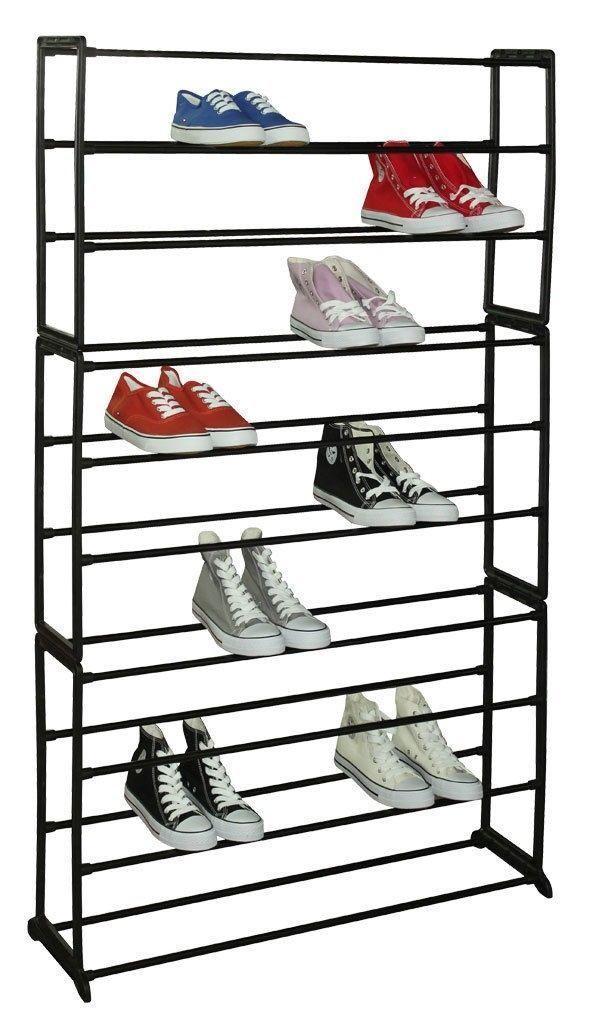 50 Pair Metal And Plastic Shoe Rack Black Plastic Shoe Rack Metal Shoe Rack 50 Pair Shoe Rack