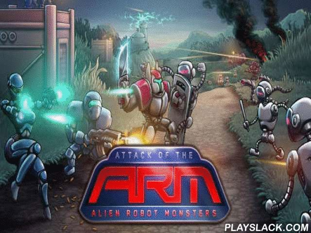 Attack Of The A.R.M.: Alien Robot Monsters  Android Game - playslack.com , Don't let the soldier of alien robots wreck the person body on a far away planet. control body's defense. This game for Android will take you to the deep time. The post of mankind on an unknown planet got ambushed  by awful robots. Place antiaircraft structures, autoloading weapons, and teams of marines on the path. Don't let the foe wreck your base. enhance structures and open brand-new kinds of fight units. Do…