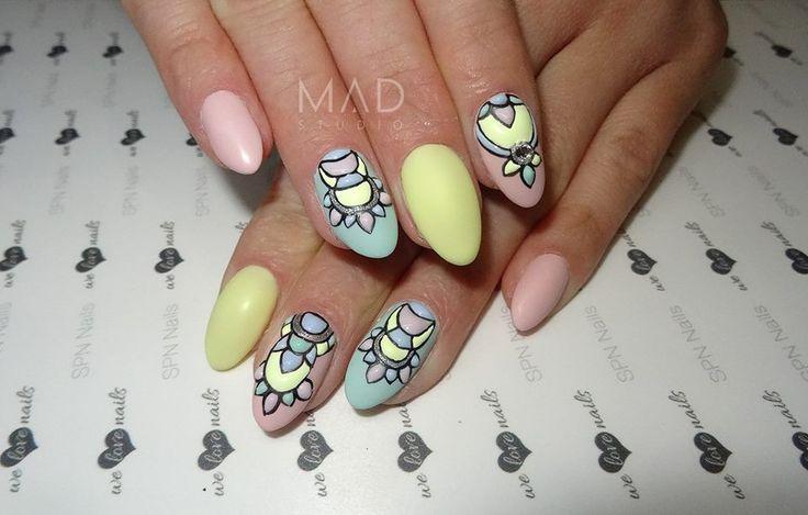 SPN Nails Zdobienia fakturowe i UV laq rose blush, little sun, pastel ocean.